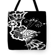 Coffee Flowers 9 Bw Tote Bag