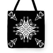 Coffee Flowers 9 Bw Ornate Medallion Tote Bag