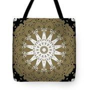 Coffee Flowers 9 Olive Ornate Medallion Tote Bag