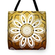 Coffee Flowers Medallion Calypso Triptych 2  Tote Bag