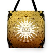 Coffee Flowers Medallion Calypso Triptych 3  Tote Bag