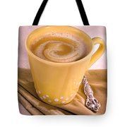 Coffee In Yellow Cup Tote Bag