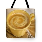 Coffee In Yellow Tote Bag