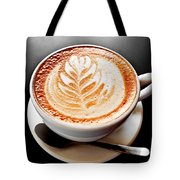 Coffee Latte With Foam Art Tote Bag