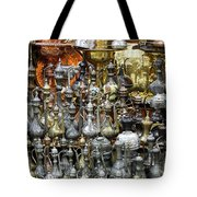 Coffee Pots At The Grand Bazaar In Istanbul Turkey Tote Bag