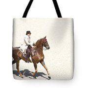 Coffee Saddlebred Tote Bag