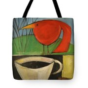 coffee with red bird II Tote Bag