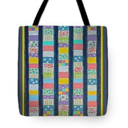 Coin Quilt -  Painting - Multicolors - Borders Tote Bag