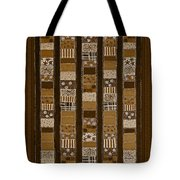 Coin Quilt - Painting - Sepia Patches Tote Bag