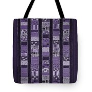 Coin Quilt -quilt Painting - Purple Patches Tote Bag