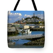 Coit Tower And Marina - San Francisco Tote Bag