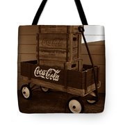 Coke Wagon Tote Bag
