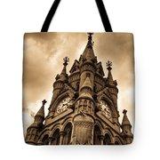 Colck Tower Stratford On Avon Sepia Tote Bag