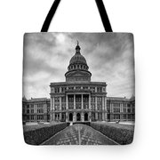 Cold And Blustery Day At The Texas State Capitol Austin Tote Bag