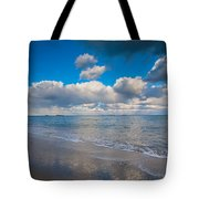 Cold And Windy Beach Day Tote Bag