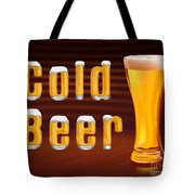 Cold Beer Tote Bag