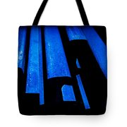 Cold Blue Steel Tote Bag