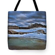 Cold Day At The Beach Tote Bag