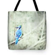 Cold Day For A Blue Jay Tote Bag