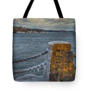 Cold Day On Superior Tote Bag
