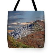 Cold Day On The Blue Ridge Tote Bag