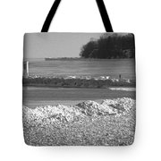 Cold Day On The Pier Tote Bag