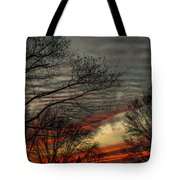Cold Front Sunset Tote Bag