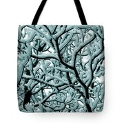 Cold Frosted Limbs Above Tote Bag