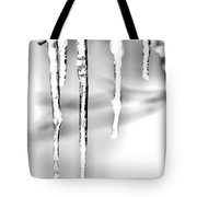 Cold Glistening  Icicles Tote Bag