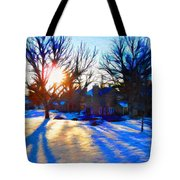 Cold Morning Sun Tote Bag by Jeff Kolker