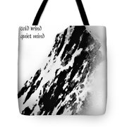 Cold Mountain Reflection W Tote Bag