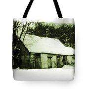 Countryside Winter Scene Tote Bag