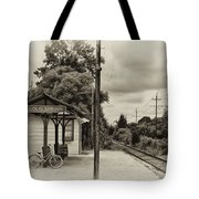 Cold Spring Train Station In Sepia Tote Bag