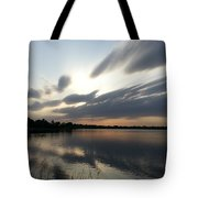 Cold Sunset Tote Bag