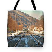 Cold Tracks Through Montgomery Tote Bag