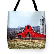 Cold Winter Day At The Farm Tote Bag
