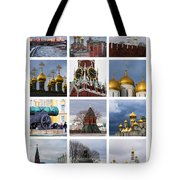 Collage Moscow Kremlin 1 - Featured 3 Tote Bag