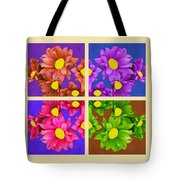 Collage Of Colors Tote Bag