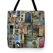 Collage Of Doors Tote Bag