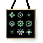 Collage Of Green Fractals Tote Bag