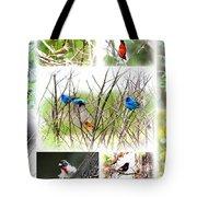 Collage Of Indigos 10 Tote Bag