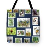 Collage Of Indigos 6 Tote Bag