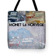 Collage Of Monet's Norwegian Works Tote Bag