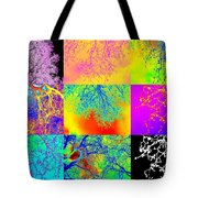 Collage Of Trees Tote Bag