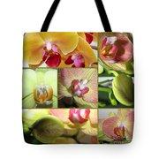 Collage Orchids 01yellow Green - Elena Yakubovich Tote Bag