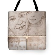 Collage Portraits Tote Bag