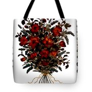 Collage With Roses And Lavander Tote Bag