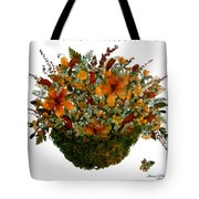 Collage With Wild Flowers Tote Bag