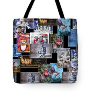 Collage Xmas Cards Horz Photo Art Tote Bag