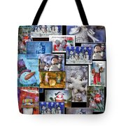 Collage Xmas Cards Vertical Photo Art Tote Bag